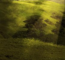 Premade countryside green by AngelaHolmesStock