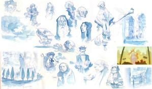 Sundry Watercolor Sketches 2 by nicholaskole