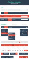 Flat User Interface - Web UI Kit by felipelessa