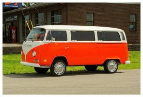 Orange VW Bus by TheMan268