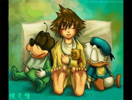 Kingdom Heart Print: Group Nap by wendichen