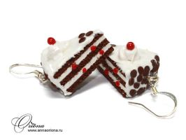Earrings Cake by OrionaJewelry