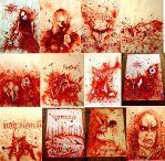 Black metal tributes done with my blood by PriestofTerror