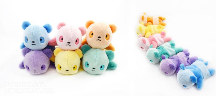 Colorful Pandas by PlanetPlush