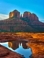 Red Rock Reflection by Shadowm00n
