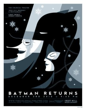 batman returns poster by strongstuff