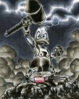 Howard The Duck Marvel Universe Artists Proof Card by RichardCox