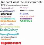 "No ""New Copyright"" Sign Up by ChavisO2"