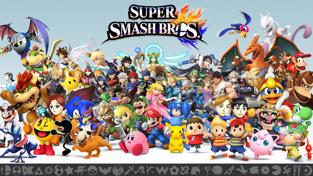 Super Smash Bros. Wii U/3DS Ultimate Wallpaper by Marcos-Inu