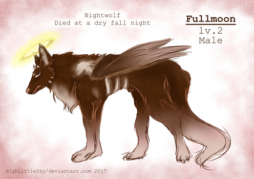 Sky wolves- Fullmoon ref by HighLittleSky