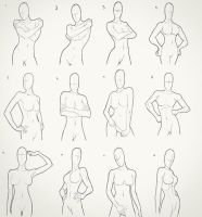 Female Torso Drawings by Juggertha
