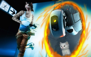 Chell Cat Cover Art by BenGrunder