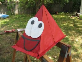 red's helmet out of cardboard by moonlightartistry