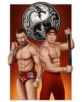 Double Dragon: Daniel Bryan and Ricky Steamboat by MarkPoulton