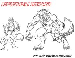 More Livestream Sketches by lady-cybercat