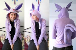 Espeon Hoodie by TrafficConeCreations
