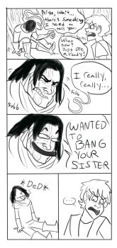 Sandor and Arya Comic -ASOS Spoilers- by gruntie0052