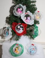 MLP Lace Ornaments by bluepaws21