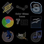 Color Glass Icons by tmetcalfe89