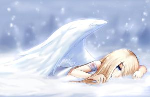 fallen snow angel by Amuria