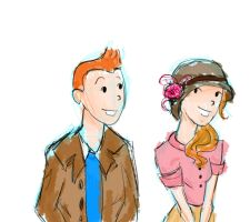 Tintin et Erica by Number-14