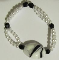 classy black and white bracelet by AnaInTheStars