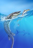 Last mosasaurs by DiBgd