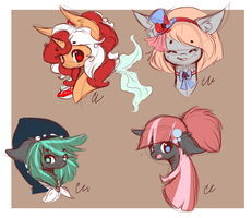 :Pony OC Sketches :FEMALE: by Sutexii