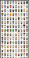 150 More Cartoon Friends by thisisanton