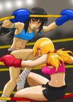 Heather vs Haruka - On the Ropes by 44th-Phantome