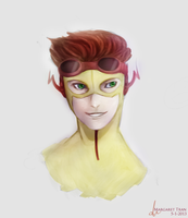 YJ-Kid Flash bust by zoruku