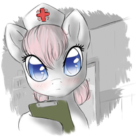 Nurse Redheard Colored Sketch by Sapphfyr