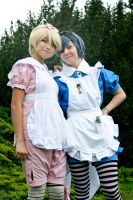 Ciel and Alois in wonderland by Arinoa