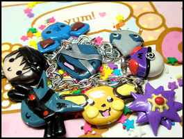 Pokemon Trainer+Team Bracelet by GrandmaThunderpants