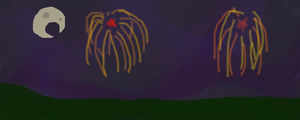 Fireworks (I can't draw fireworks) by bluegumibear
