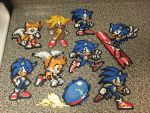 Sonic and Tails bead sprites by jnjfranklin