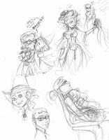 Best seat in the house doodles by cherryhobbit