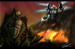 Kaiju Wars: The battle at London by Blabyloo229