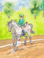 Red Rosy Does Dressage by Murasaki99