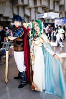 Ike and Elincia by RikkuGrape