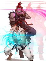 Ryu vs Akuma 2 - Light by BenBrush