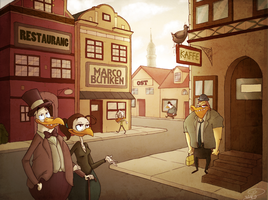 A Swedish City with Ducks by chillyfranco