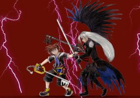 Sora and SephirothContestEntry by sapphire-night