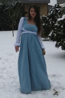 Blue dress in Snow 5 by NaomiFan