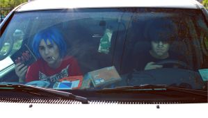 Gorillaz: Drivin' with Mr.Niccals by Hello-Yuki