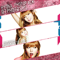 Photopack HyunA (4Minute) by GAJMEditions