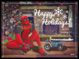 a deadpool xmas by m7781