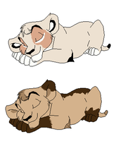 custom lions for coolhorse1 by petshop101
