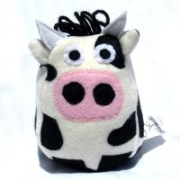 Stuffed Cow Plush Toy by ZodiacEclipse