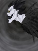 Ryuk - side view -colored by No-one-o1